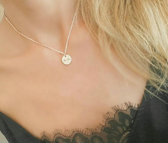 collar de moda medalla oro rosa