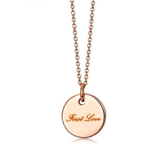 collar de moda oro rosa