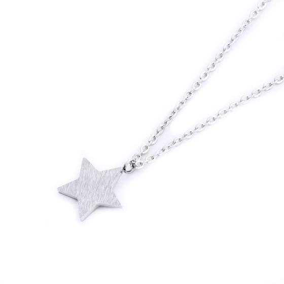 collar estrella plateada